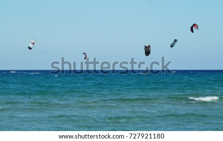 Kitesurfing - Sardinia, Italy - view from the beach of the expanse of the sea