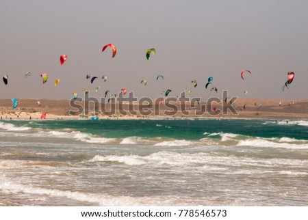 kiting at the Cape Verde