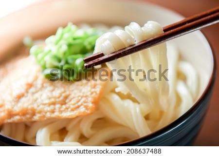 kitsune udon japanese food - stock photo