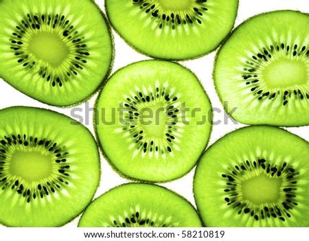 kiwi fruit background - stock photo