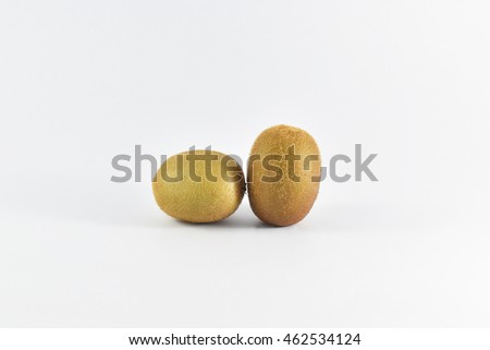 kiwi fruit in isolated text area on Black background.