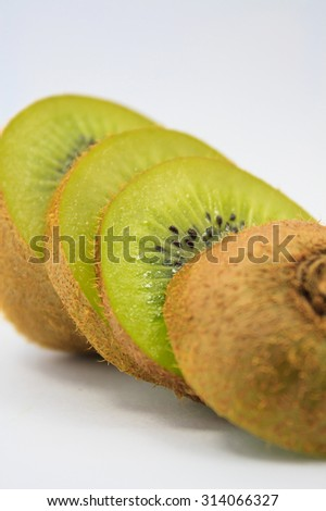 kiwi fruit isolated on a white background