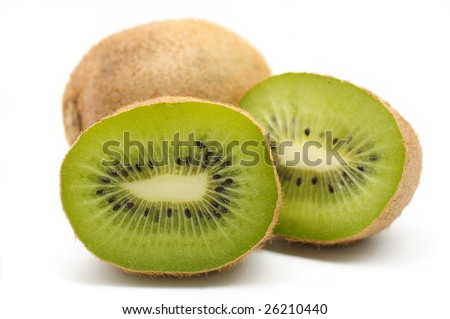 kiwi fruit, isolated on the white background. macro