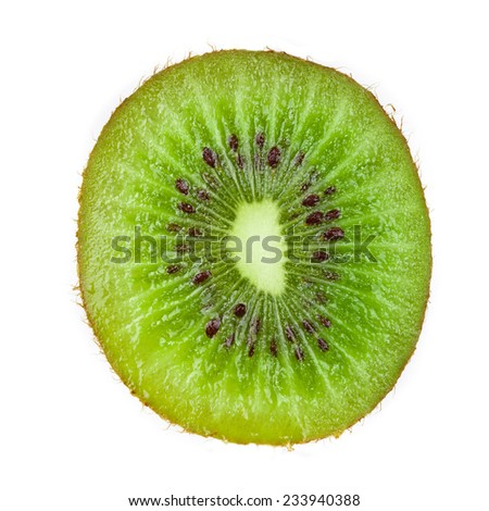 Kiwi fruit. Macro. Selective focus. - stock photo