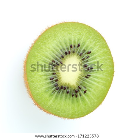 kiwi fruit on white background - stock photo
