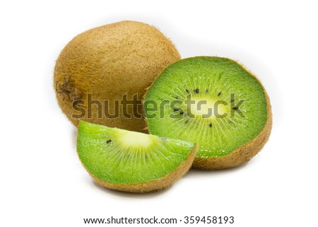 kiwi fruit on white background isolated