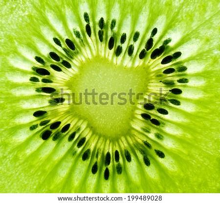 Kiwi macro background - stock photo