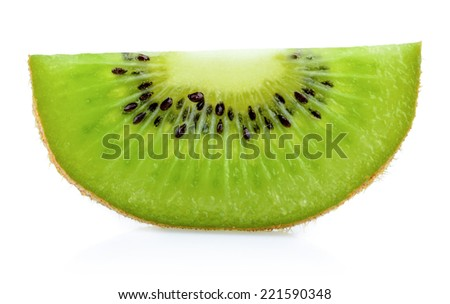 Kiwi slice isolated - stock photo