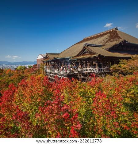 Kiyomizu-dera Temple in Japan - stock photo