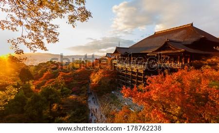 Kiyomizu-dera Temple in Kyoto - stock photo