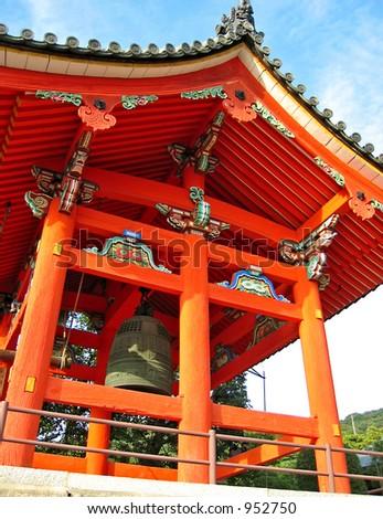 Kiyomizudera Temple in Kyoto, Japan - stock photo
