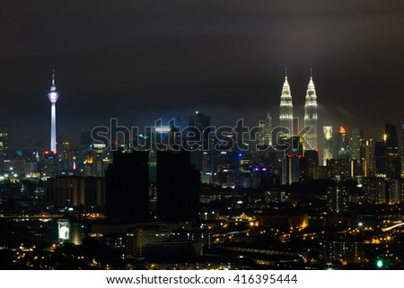 KL skyline at night