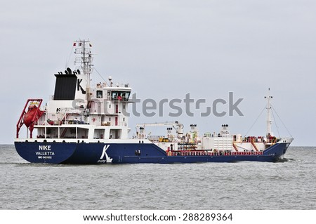 KLAIPEDA,LITHUANIA- JUNE 18:ship GRUMANT in the Baltic sea on June 18,2015 in Klaipeda,Lithuania.