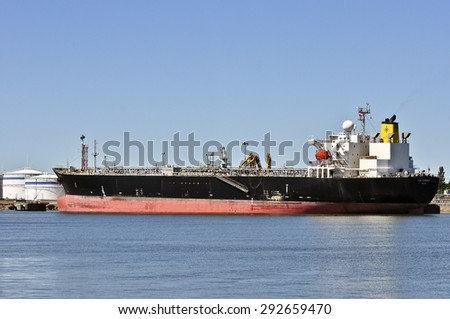 KLAIPEDA,LITHUANIA-JUNE 12: ship HIGH CURRENT in Klaipeda port on June 12,2015 in Klaipeda,Lithuania.