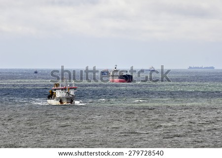 KLAIPEDA,LITHUANIA-MAY 18:view in the Baltic sea  on May 18,2015 in Klaipeda, Lithuania.