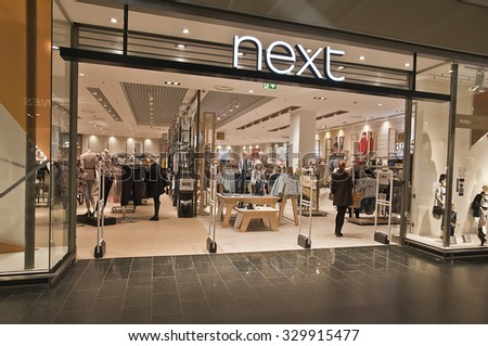 KLAIPEDA,LITHUANIA-OCT 19:NEXT store on October 19, 2015 in Klaipeda, Lithuania.Next plc is a British multinational clothing, footwear and home products retailer.