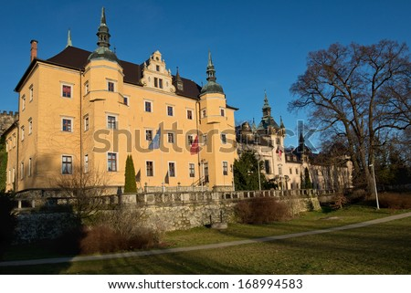 Kliczkow castle in Poland.