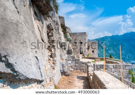 Klis Fortress -  medieval fortress near the city of Split, in central Dalmatia, Croatia