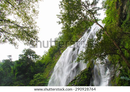 Klonglan waterfall.Beautiful waterfall of Kampangpet Province,Thailand
