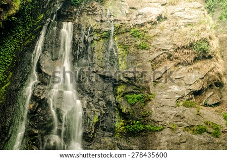 Klonglan Waterfall is waterfall in Kampangphet  province asia southeast asia Thailand ,rainforest nature  - stock photo