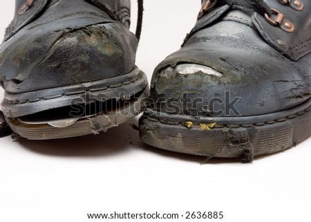 knackered boots - stock photo