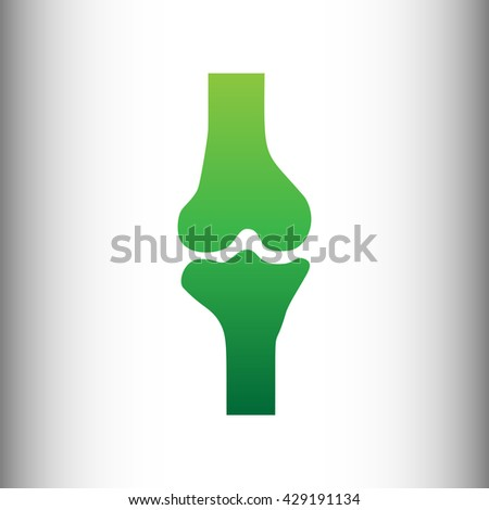 Knee joint sign - stock photo