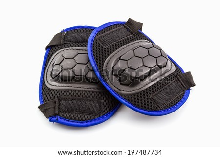 Knee pads of knee protectors on white background.  - stock photo