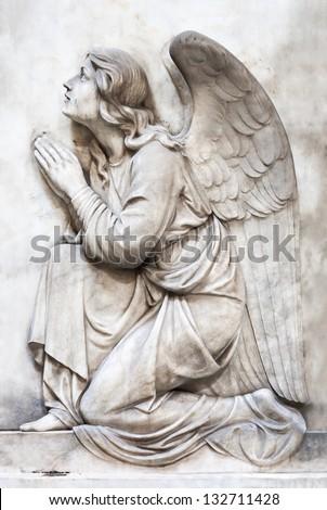 kneeling angel - stock photo