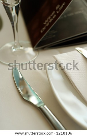 knife and napkin