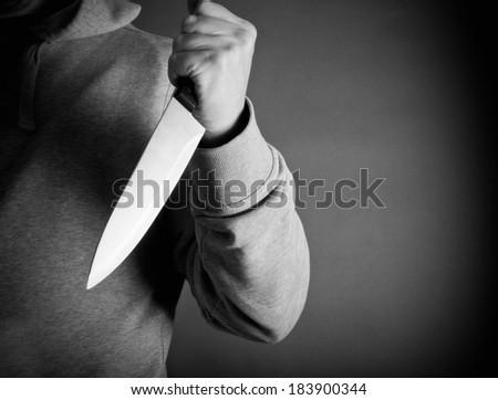 Knife crime - stock photo