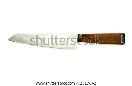 Knife on a white background
