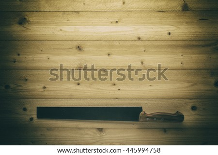 knife on wooden background  - stock photo