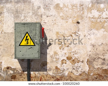 Knife Switch Knife Switch on Old Dirty Wall
