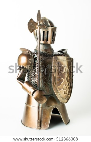 Knight, a tin soldier, toy