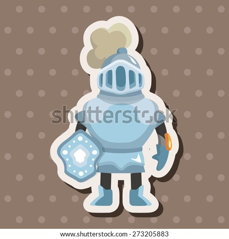 knight , cartoon sticker icon