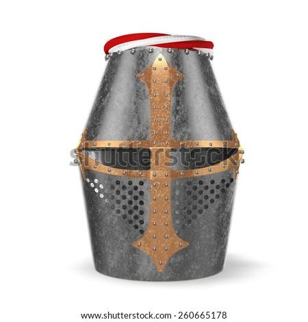 Knight helmet - stock photo