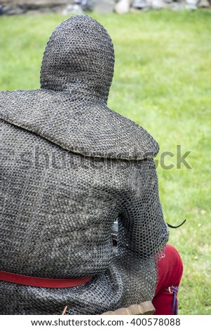 Knight in armor - stock photo