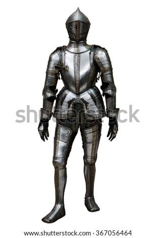 knight isolated on white background - stock photo