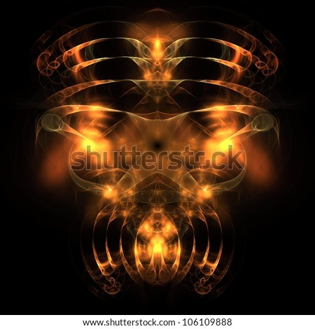 Knight of the Demon abstract fractal design for backgrounds and wallpapers - stock photo