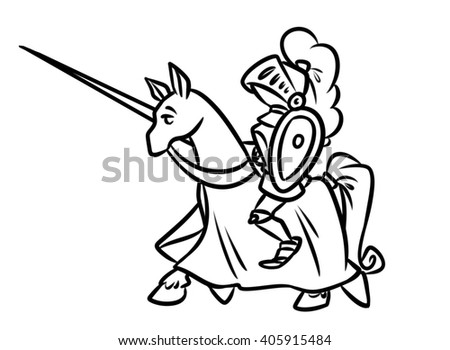 Knight Rider Coloring Page Horse Image Character