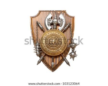 Knight shield - stock photo