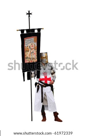 Knight Templar isolated on white background
