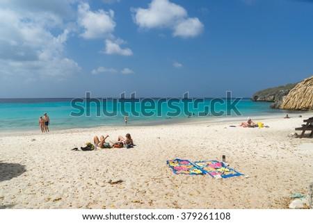 Knip Beach -Views around the Caribbean island of Curacao - stock photo