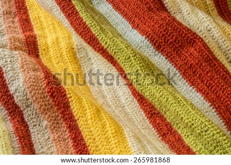 Knitted blanket - stock photo