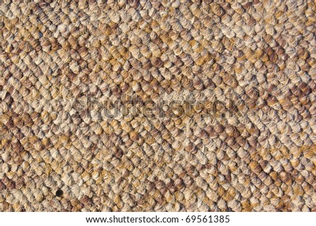 knitted brown textile - stock photo