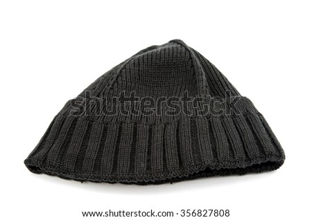 knitted cap on a white background