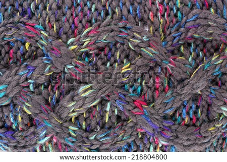 Knitted fabric background close up - stock photo