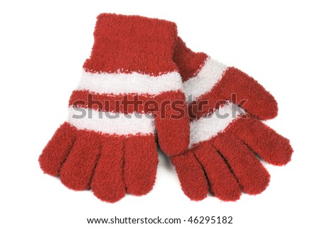 Knitted gloves - stock photo