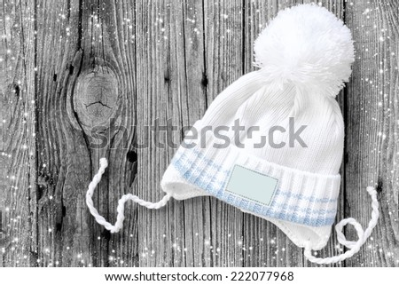Knitted hat - stock photo
