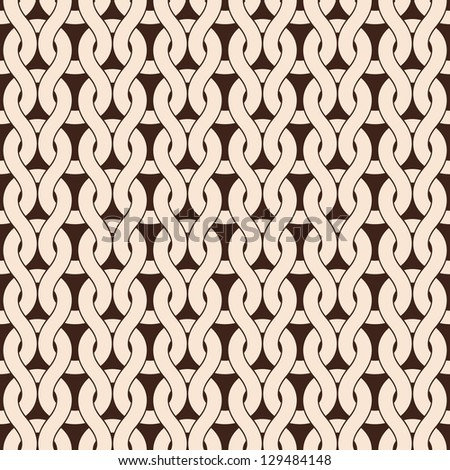 Knitted seamless pattern in natural colors. Vector version available in my portfolio - stock photo
